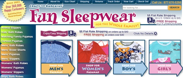 crazy-for-bargain-sleepwear-screenshot