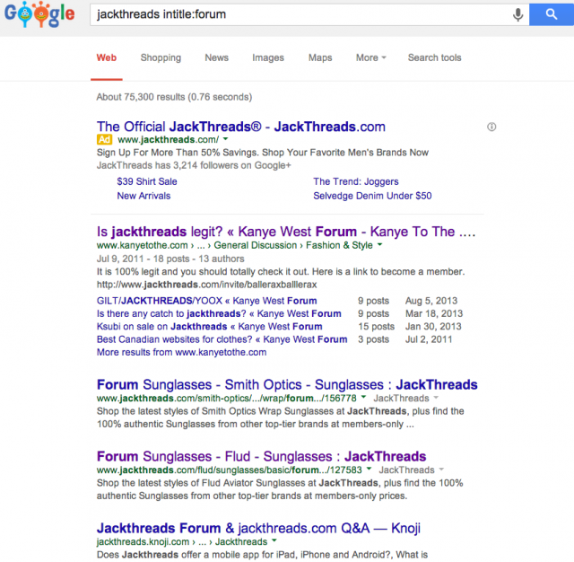 jackthreads intitle forum Google Search