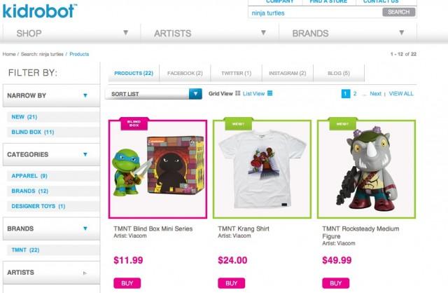 ninja turtle site search