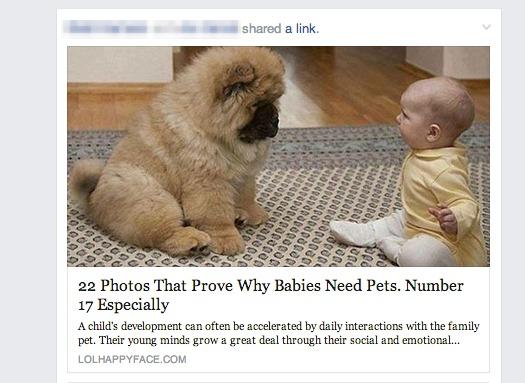 example of numbered-list headline on facebook.