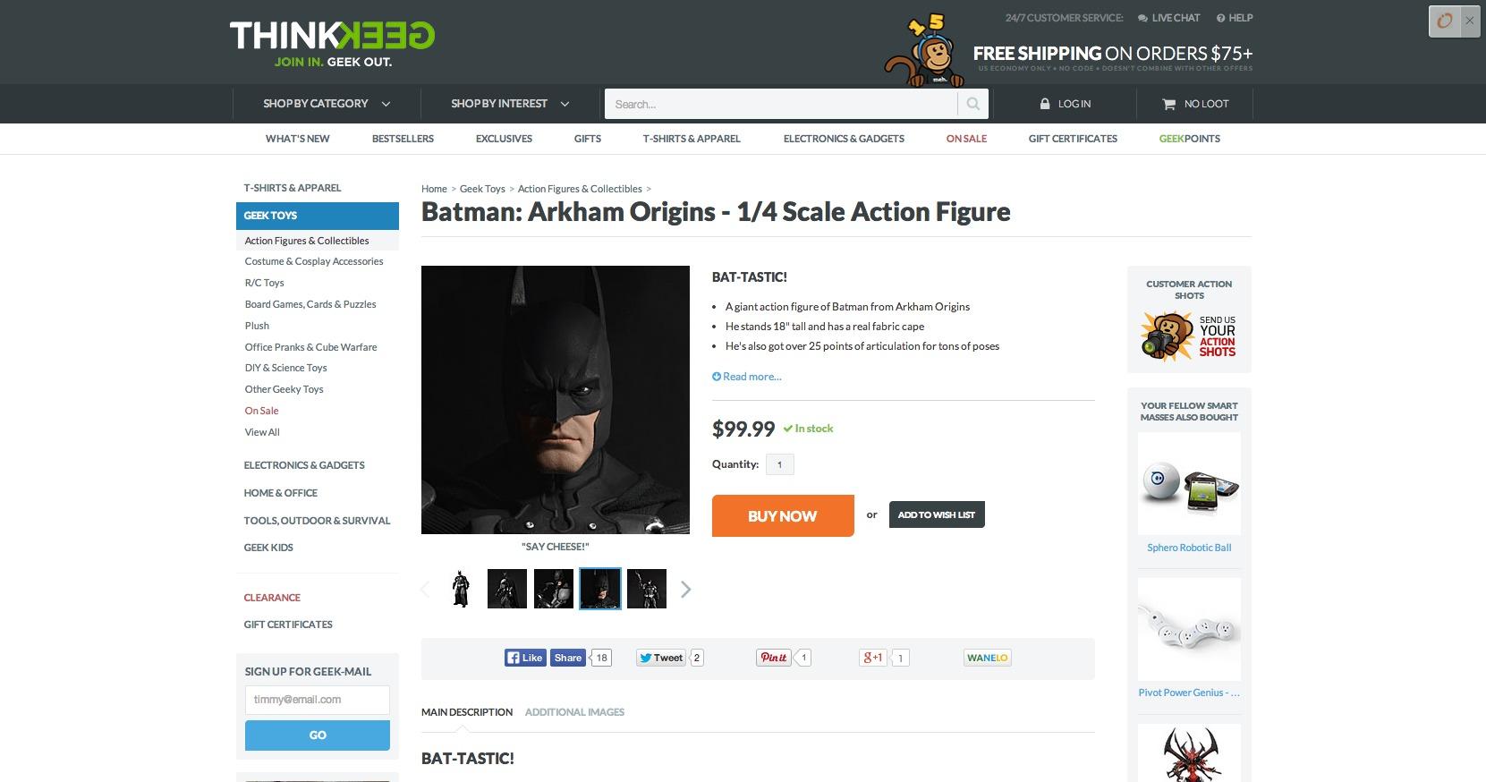 Batman up close