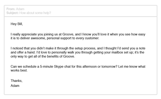 Groove Email 1