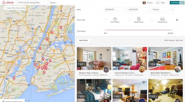 New AirBnB Search Results