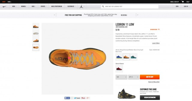 Puñalada empeorar Cielo  What Nike.com (and Others) Can Teach You About Building Persuasive Product  Pages