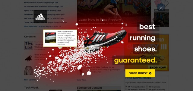 Runners world ad