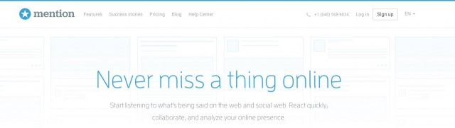 mention Real time media monitoring application