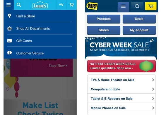 mobile menus