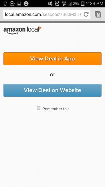 viewing option screen