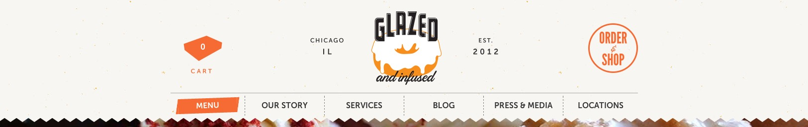 Glazed   Infused Menu