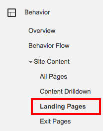 Landing Pages   Google Analytics