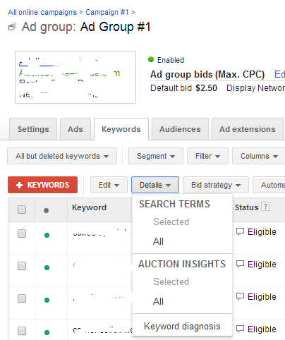 How to access the Search Terms Report