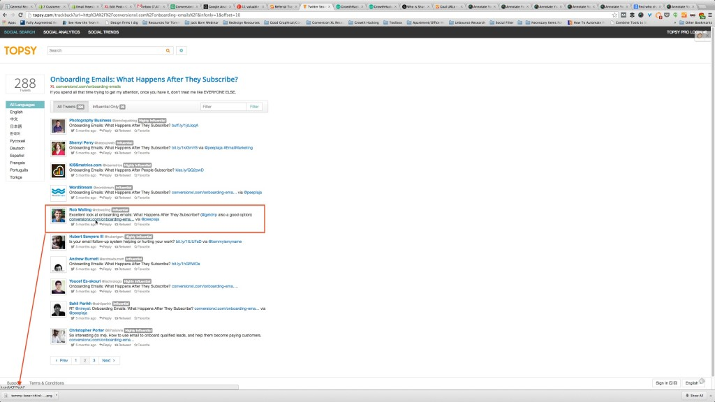 Finding Influencers Who Referred The Most Traffic With Topsy