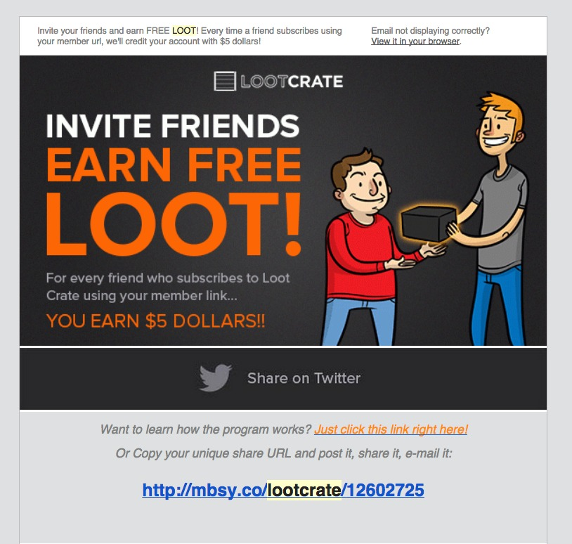Loot Crate Referral Program