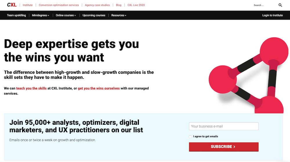 CXL homepage.