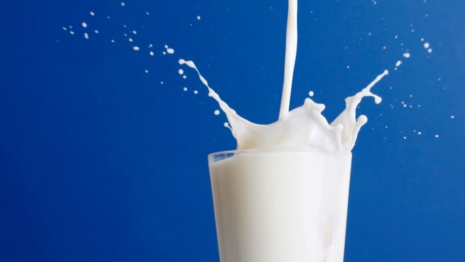 example of stock photo of milk glass.