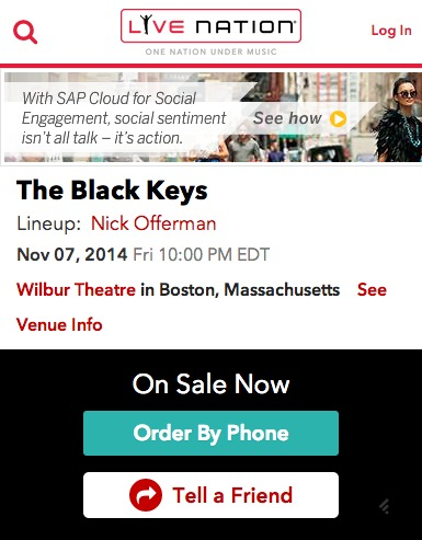 The Black Keys Order By Phone