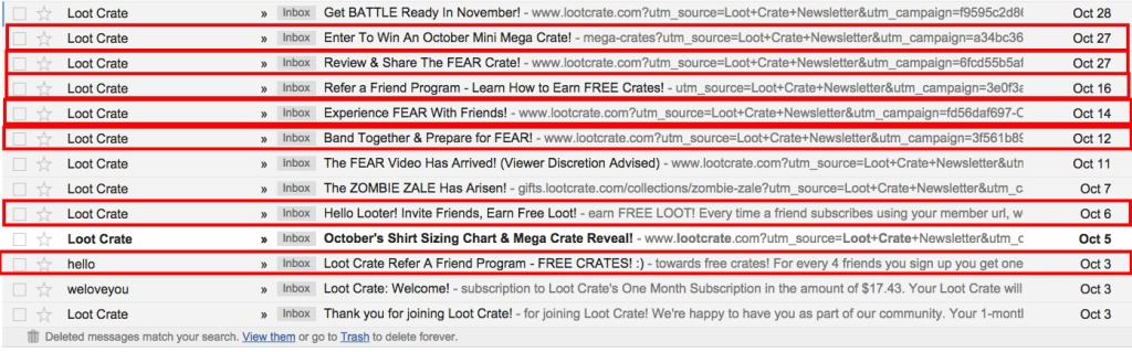 When Lootcrate triggers its refer a friend program
