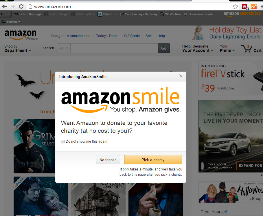 Amazon.com home page from 10/31/14