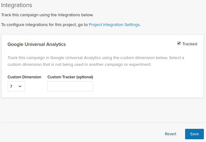 Google Analytics Optimizely X integration