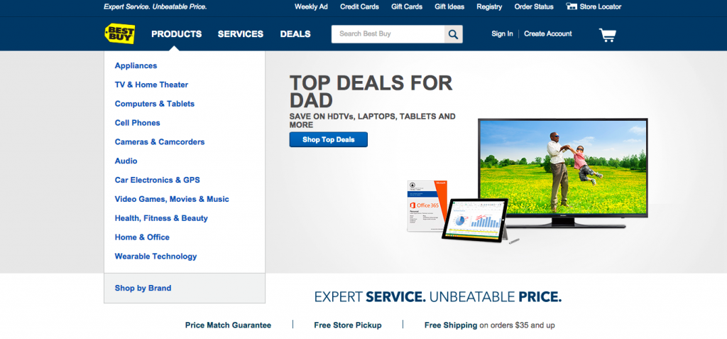 Best Buy Home Page Hero Image