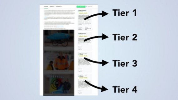 tiers for crowdfunding