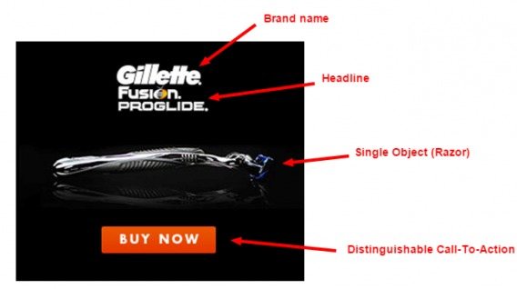 Gillette's good banner ad.