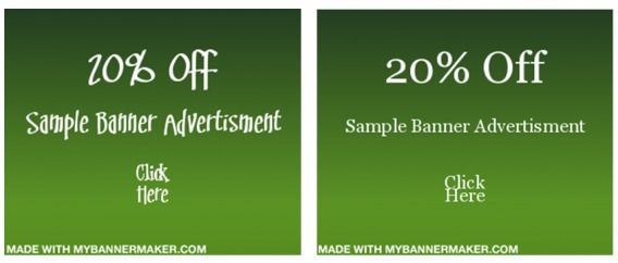 Good and bad typography on a banner ad.
