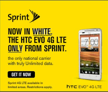 Well designed Sprint banner ad.