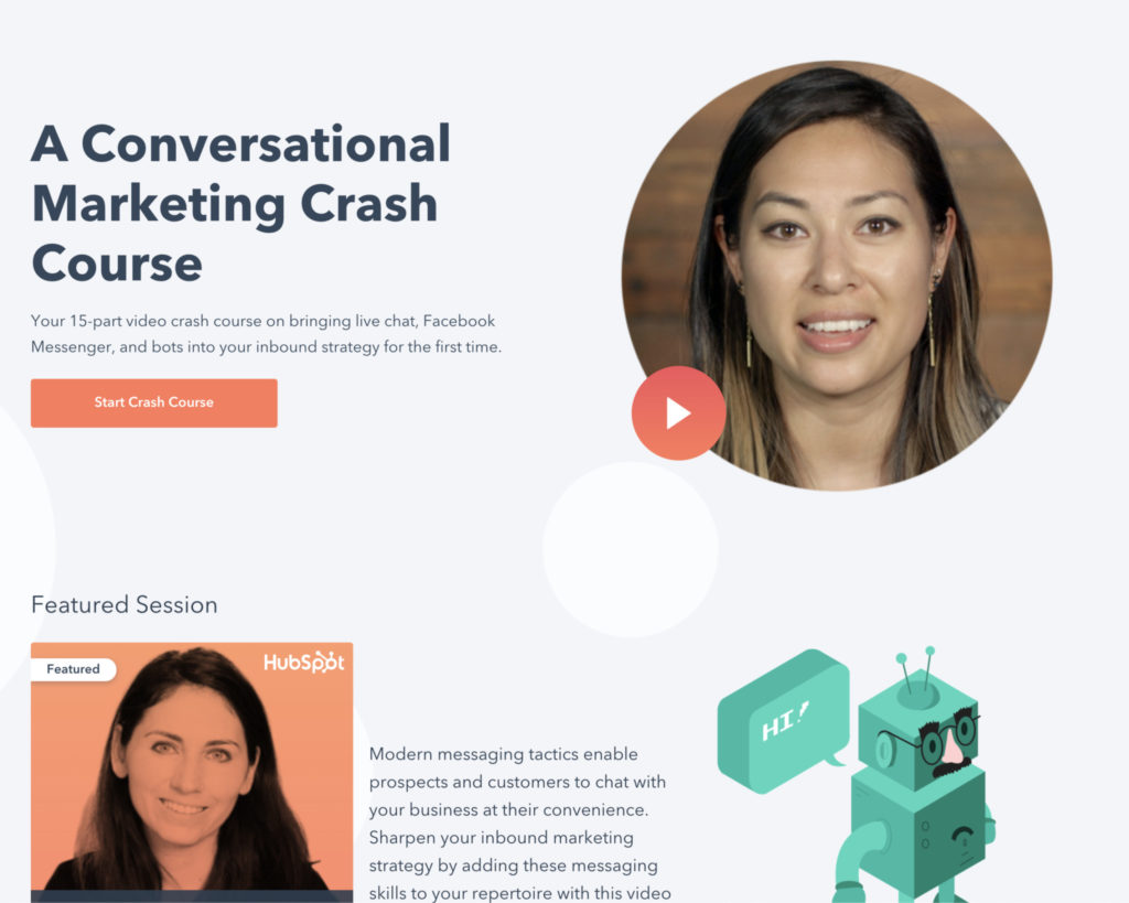 A conversation marketing crash course offered by Hubspot.