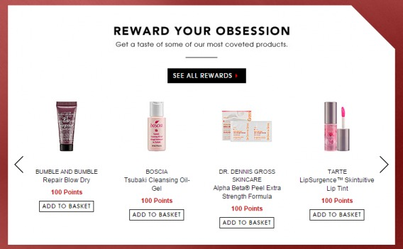 Sephora personalization rewards