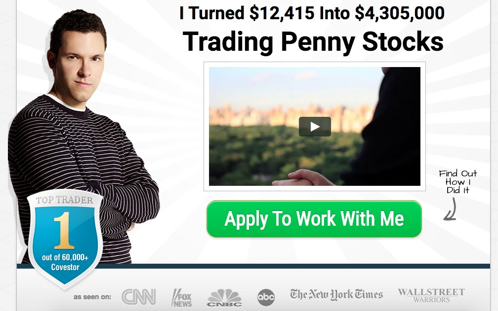 Timothy Sykes social proof example.