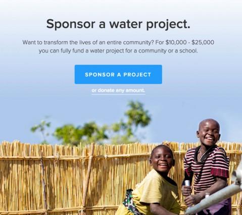 charitywater sponsor