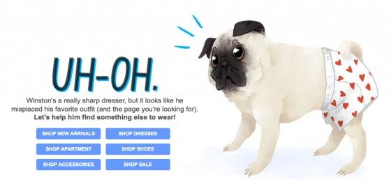Modcloth 404 page.