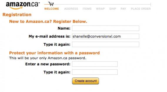 Amazon's progress bar.