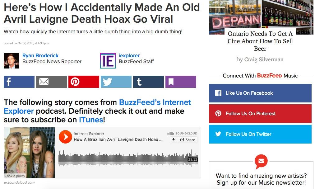 BuzzFeed and Availability Cascade.