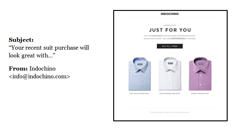 example of email segmentation/personalization.