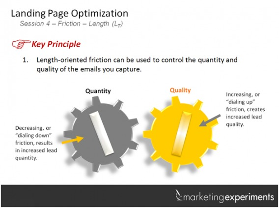 Landing Page Friction