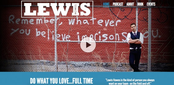 Lewis Howes former homepage.
