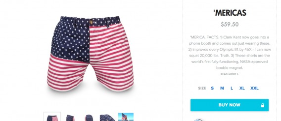 Example of persona-focused product description by Chubbies' Shorts.