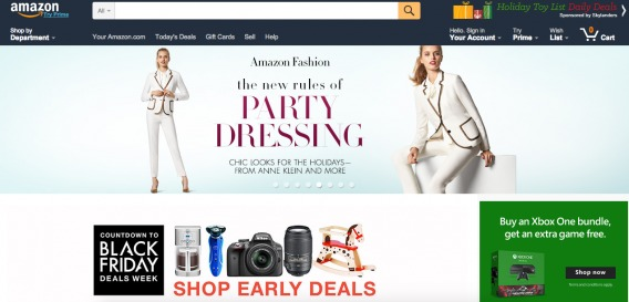 Amazon's Early Holiday Shopping