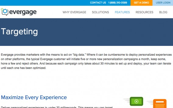 Evergage Targeting Copy