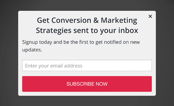 A/B testing of popup messaging, version 1.