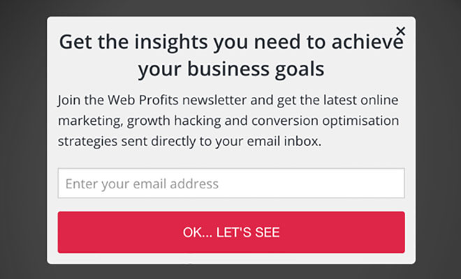A/B testing of popup messaging, version 2.