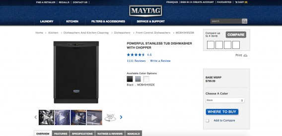 Maytag Experience (Step 1)