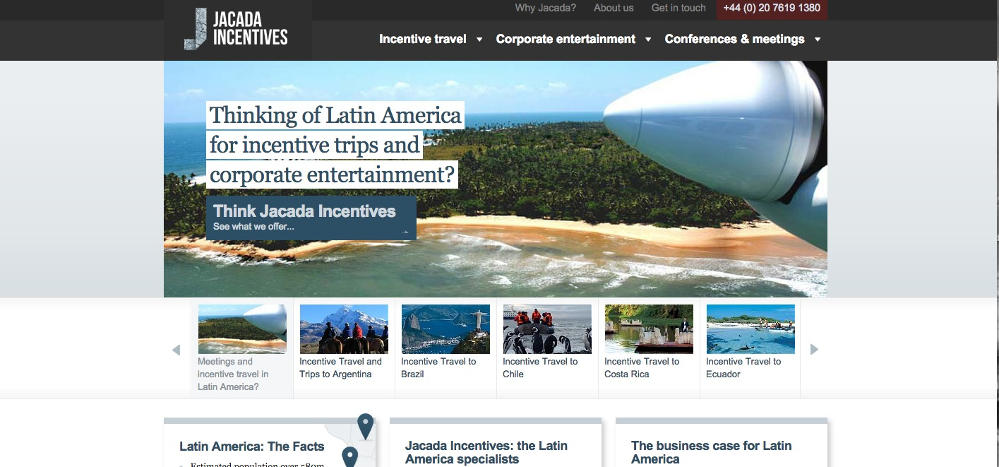 """""""Thinking of latin america for incentive trips and corporate entertainment? Think Jacada Incentives"""""""