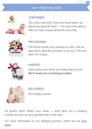 zulily Post-Purchase Email