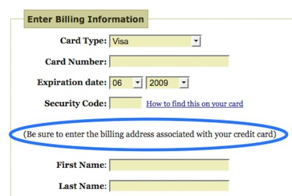 Example of detailed microcopy on a form.
