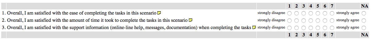 after-scenario questionnaire example.