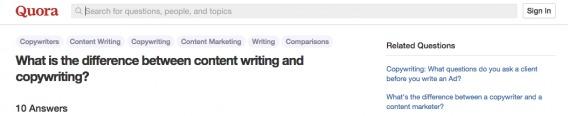 Copywriting vs. Content Marketing
