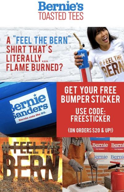 Bernie's Toasted Tees.